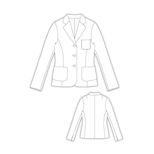 Tailoring- 2574/ 三つ釦テーラードジャケット