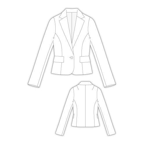 Tailoring- 2Claris/ ショートテーラードジャケット