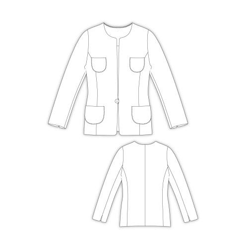 Tailoring- 2Nana/ 4ポケット、ノーカラージャケット