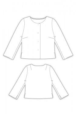 Tailoring- 2Naomi/ 衿無し七分袖ジャケット