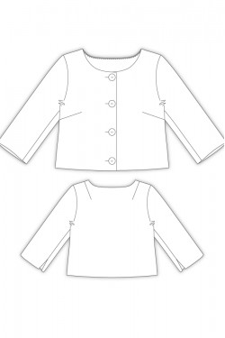 Tailoring- 2Sango/ 4つボタンショートボレロジャケット