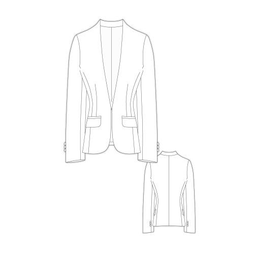 Tailoring- 2Zoey   Vネックジャケット