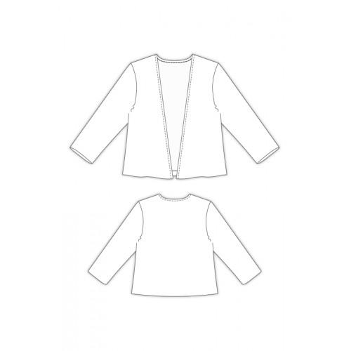 Tailoring- 797/ Vネックボレロ カーディガン