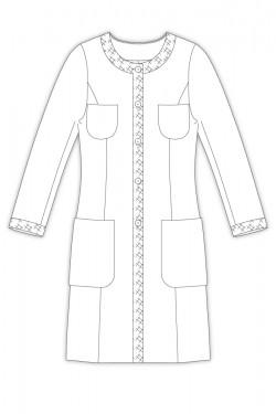 お仕立て- 339/ 4ポケット衿なしロングジャケット