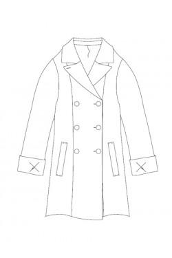 Tailoring- 3Elody/ ダブルブレストAラインハーフコート