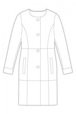 Tailoring- 3Maniella/ ノーカラーコート