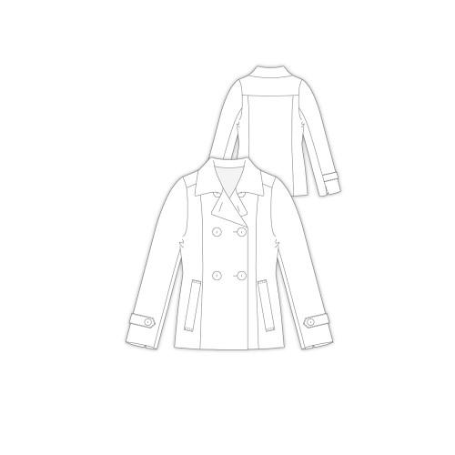 Tailoring- 3Tracy/ ショート丈Pコート