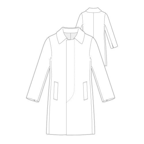 Tailoring- h305/ メンズ セミロング丈比翼開きコート