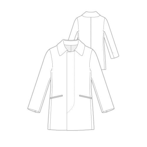 Tailoring- h306/ メンズ ハーフ丈比翼開きコート