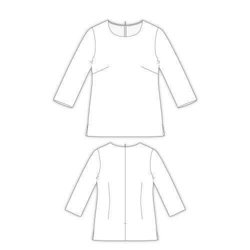 Tailoring- 6BergeCrew/ 中厚地でも使えるクルーネックブラウス