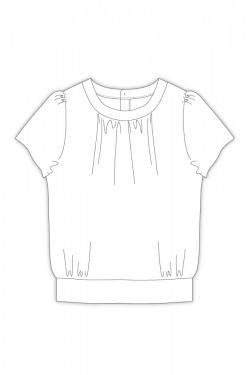Tailoring- 6Migna/ ナローネックブラウス