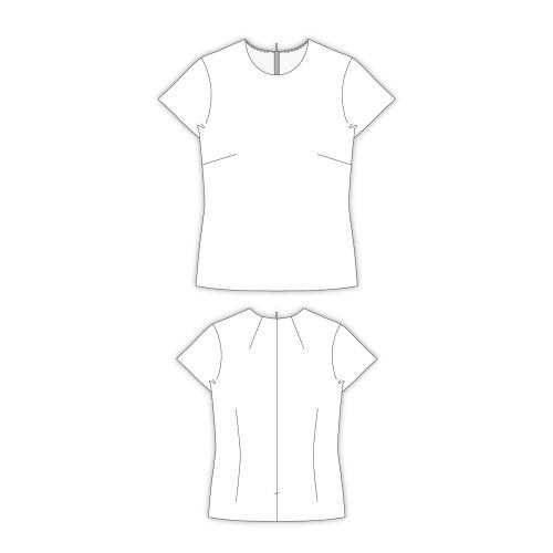 Tailoring- 6Sissil/ シンプルなクルーネックインナーブラウス