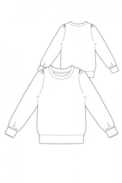 Tailoring- 7Melody/ クルーネックプルオーバー