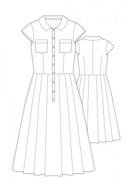 Tailoring- 8Argo/ フラットカラーシャツワンピース