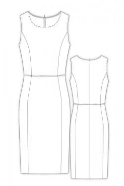 Tailoring- 8Charleen/ 衿なしノースリーブワンピース