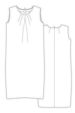 Tailoring- 8Macaroon/ タックドレープドレス