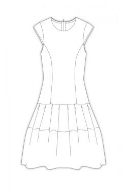 Tailoring- 8Masquerade/ イレギュラータックのティアードワンピース