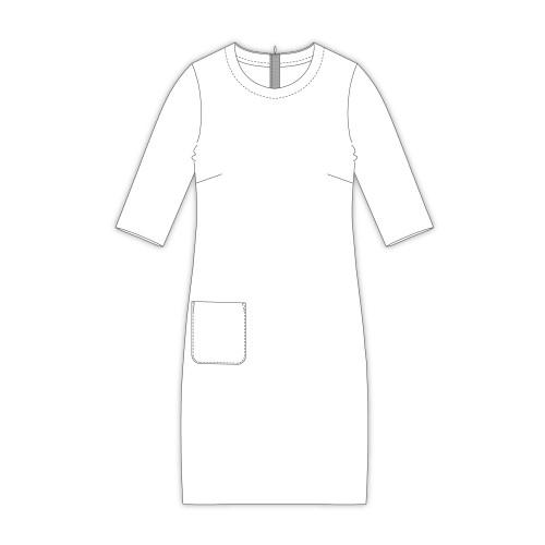 Tailoring- 8Piato/ ナローネックカットソーワンピース