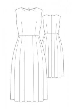 お仕立て- 8Sisbon/ ノースリーブミディ丈タックドレス