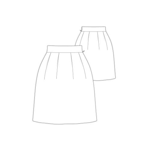 Tailoring- 9Laurent/ コクーンタックスカートベルト付き