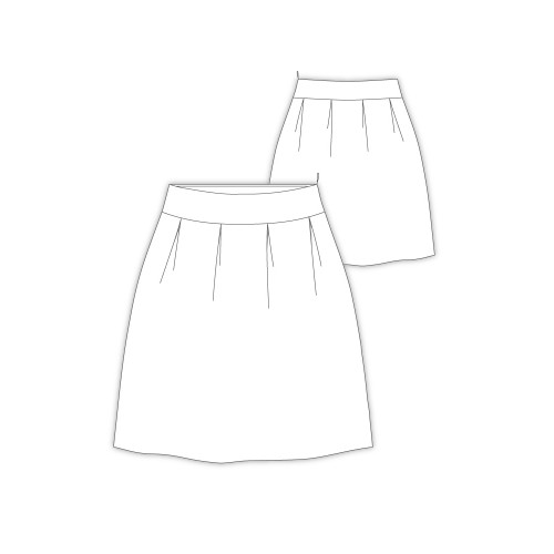 Tailoring- 9682Paris/ ヨーク切り替えコクーンスカート