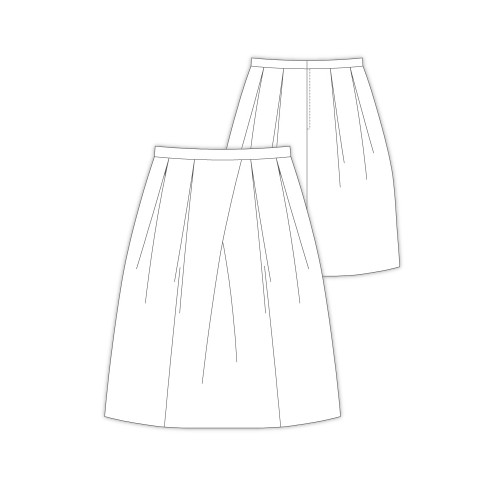 Tailoring- 9Roger/ アシンメトリータックスカート