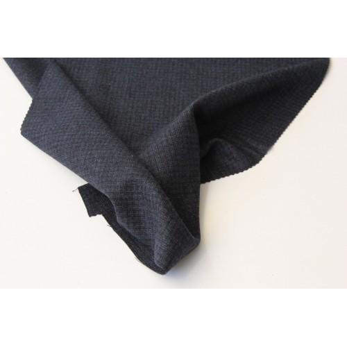 薄起毛ウールのスーツ、ネイビー(メランジャ)
