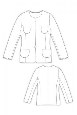 パターンオーダー 2Nana/ 4ポケット、ノーカラージャケット