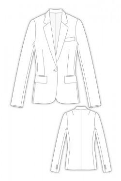 パターンオーダー 2Shelbon/ 細身ロングテーラードジャケット