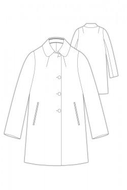 Tailoring- 3023r/ ステンカラー ハーフコート