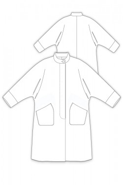 Tailoring- 3Blanche_a ドルマンスリーブコート