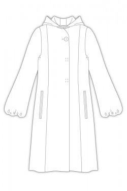 Tailoring- 3Viola/ フーデッドパフスリーブコート