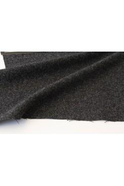 紡毛ウールワンピース、ブラック(メランジェ)